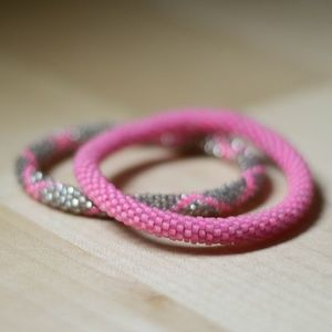 Pink Lily & Laura Bracelets